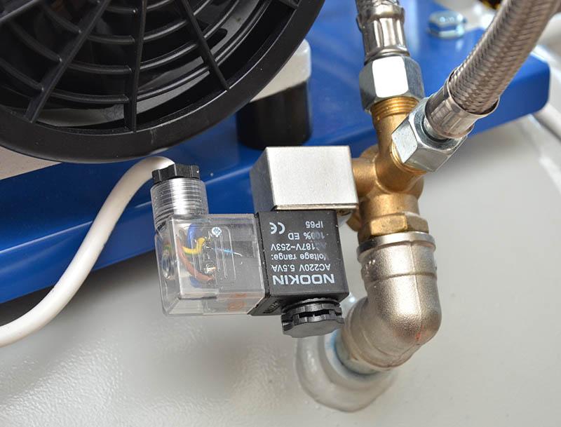 электромагнитный и обратный клапана